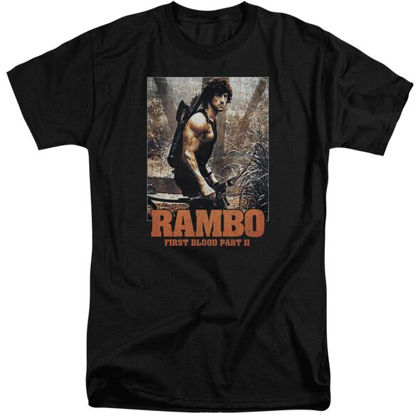 Rambo:First Blood Ii The Hunt Short Sleeve Adult Tall T-Shirt