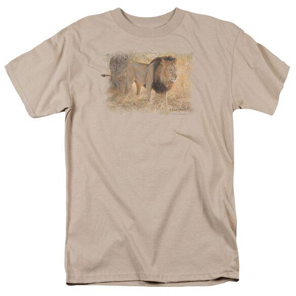 Wildlife Shumba In The Grass Short Sleeve Adult Sand T-Shirt