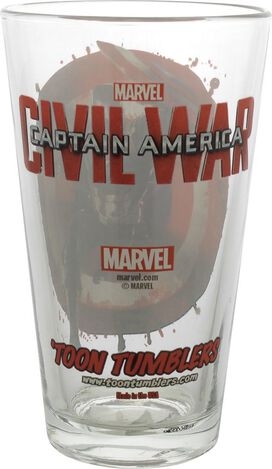 Captain America Civil War Logo Pose TT Pint Glass