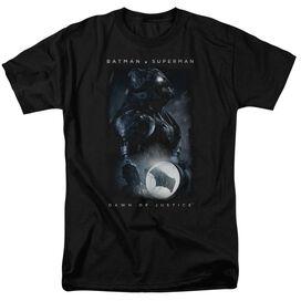 Batman V Superman Signal Short Sleeve Adult Black T-Shirt