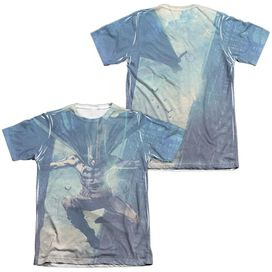 Batman Skyscrapers (Front Back Print) Adult Poly Cotton Short Sleeve Tee T-Shirt
