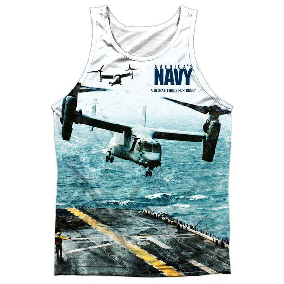 Navy Osprey Adult 100% Poly Tank Top