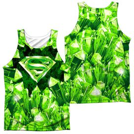 Superman Kryptonite Shield (Front Back Print) Adult 100% Poly Tank Top