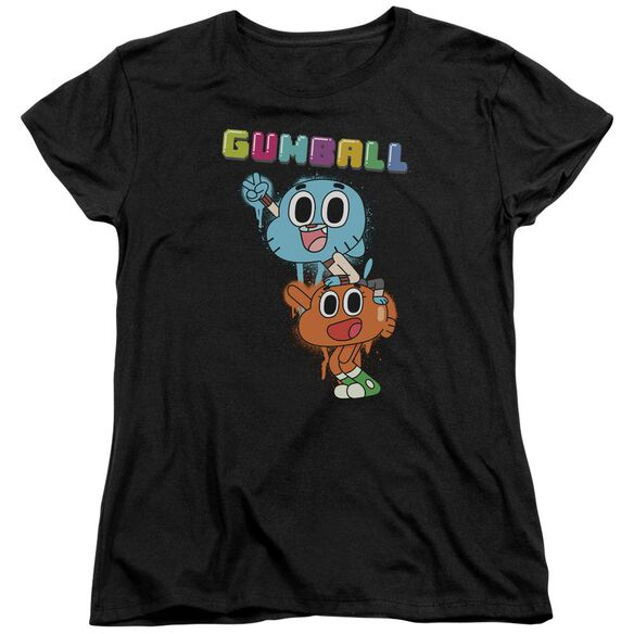 Amazing World Of Gumball Gumball Spray Short Sleeve Womens Tee T-Shirt