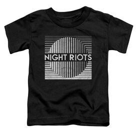 Night Riots Title Short Sleeve Toddler Tee Black T-Shirt