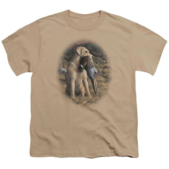 Wildlife Yellow Lab With Pheasant Short Sleeve Youth T-Shirt