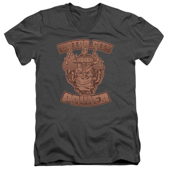 Motor City Power Short Sleeve Adult V Neck T-Shirt