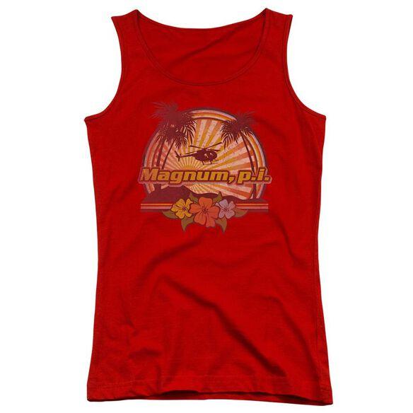 Magnum Pi Hawaiian Sunset Juniors Tank Top