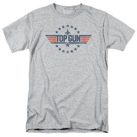 Top Gun Star Logo Short Sleeve Adult Athletic Heather T-Shirt