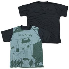 Army Airborne Short Sleeve Youth Front Black Back T-Shirt