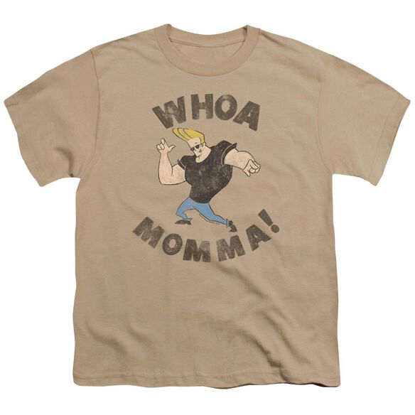 Johnny Bravo Whoa Momma Short Sleeve Youth T-Shirt
