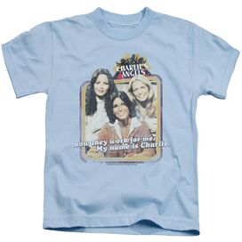 Charlies Angels Now They Work For Me Short Sleeve Juvenile Light T-Shirt