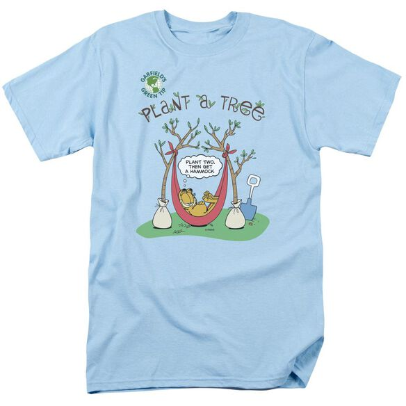 Garfield Plant A Tree Short Sleeve Adult Light T-Shirt
