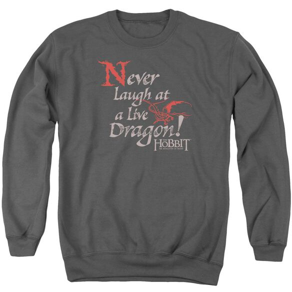 Hobbit Never Laugh Adult Crewneck Sweatshirt