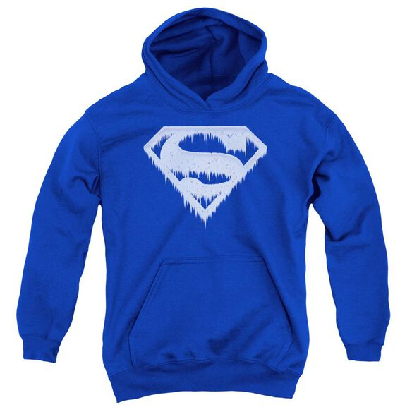 Superman Ice And Snow Shield Youth Pull Over Hoodie