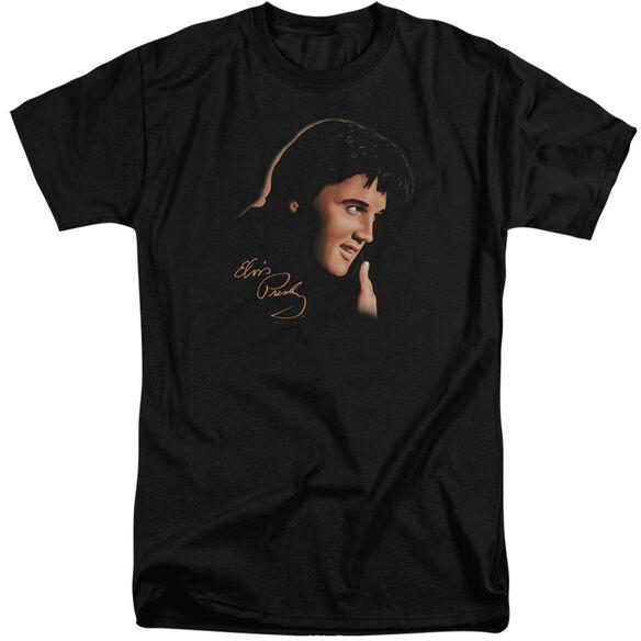 Elvis Warm Portrait Short Sleeve Adult Tall T-Shirt