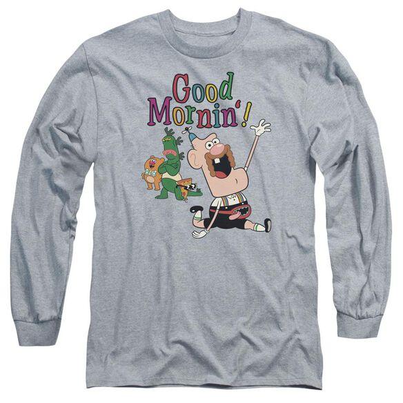 Uncle Grandpa Good Mornin Long Sleeve Adult Athletic T-Shirt