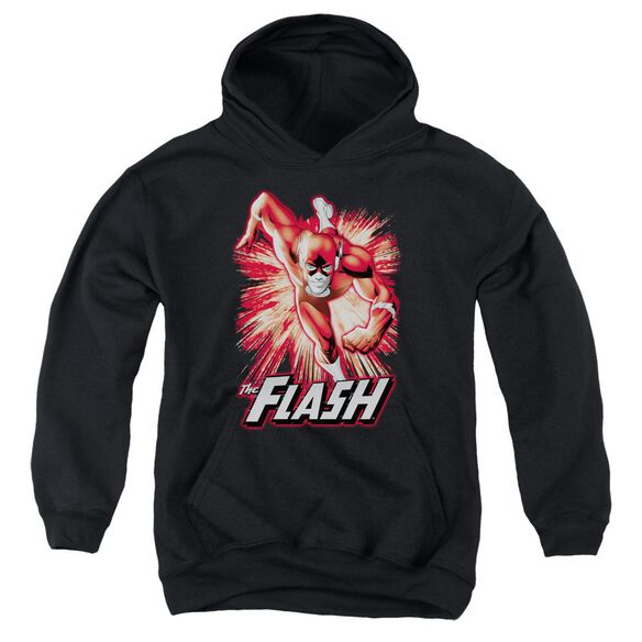 Jla Flash Red & Gray Youth Pull Over Hoodie