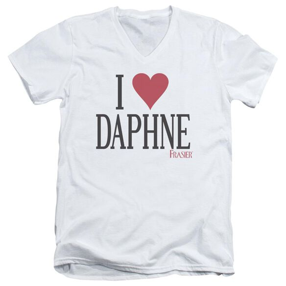 Frasier I Heart Daphne Short Sleeve Adult V Neck T-Shirt