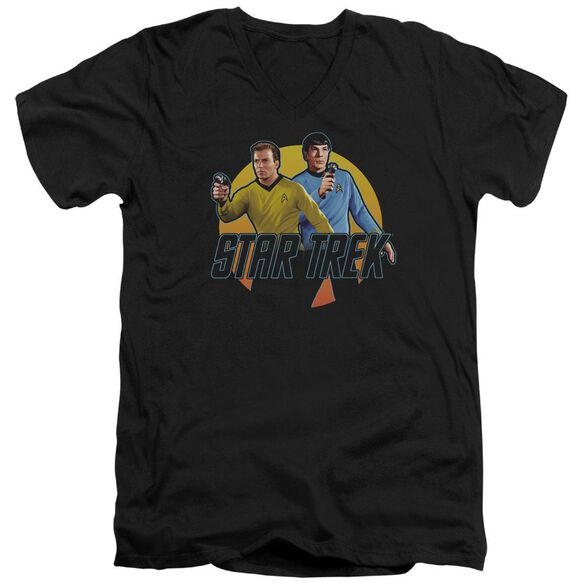 Star Trek Phasers Ready Short Sleeve Adult V Neck T-Shirt
