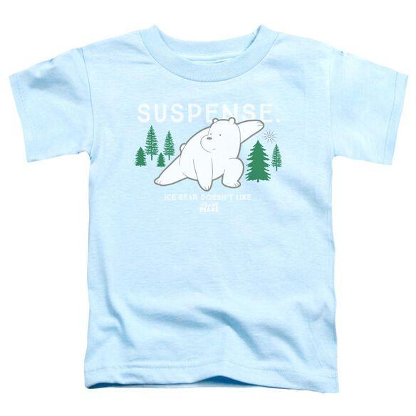 We Bare Bears Suspense Short Sleeve Toddler Tee Light Blue T-Shirt