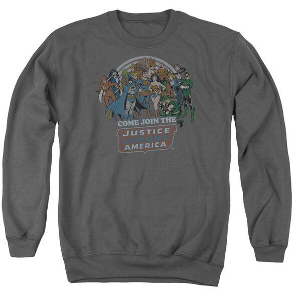Dc Join The Justice League Adult Crewneck Sweatshirt