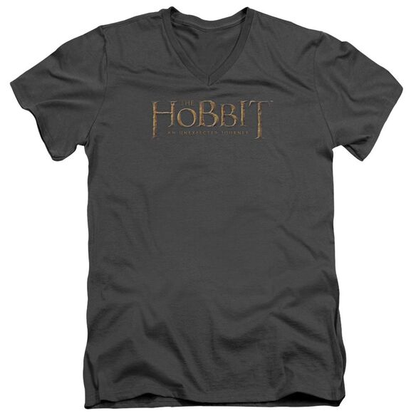 The Hobbit Distressed Logo Short Sleeve Adult V Neck T-Shirt