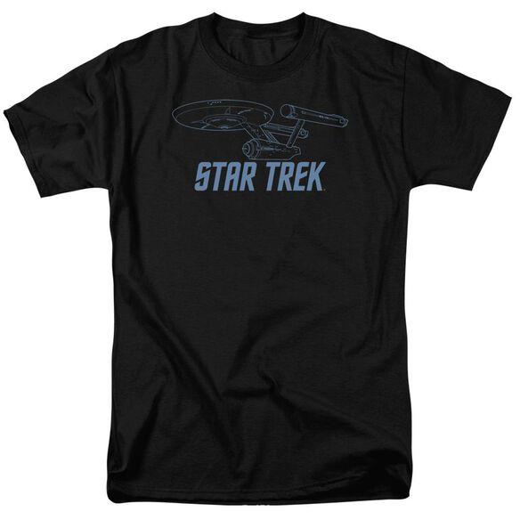 Star Trek Enterprise Outline Short Sleeve Adult T-Shirt