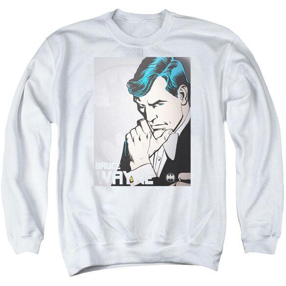 Dc Bruce Wayne Adult Crewneck Sweatshirt