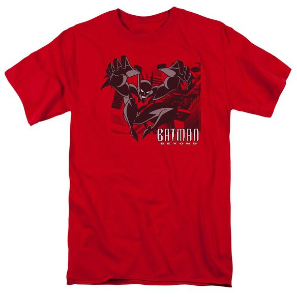 Batman Beyond City Jump Short Sleeve Adult Red T-Shirt