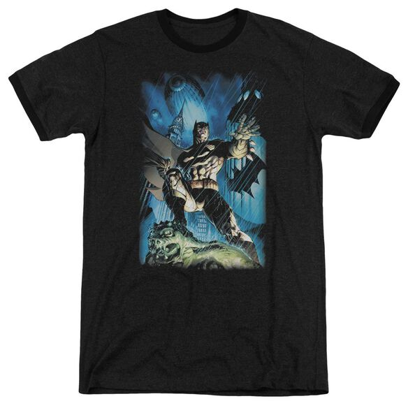 Batman Stormy Dark Knight Adult Heather Ringer