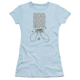 Sesame Street Nom Nom Short Sleeve Junior Sheer Light T-Shirt