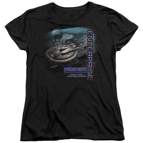 Star Trek Enterprise Nx 01 Short Sleeve Womens Tee T-Shirt
