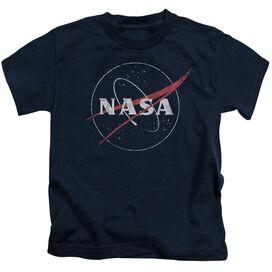 Nasa Distressed Logo Short Sleeve Juvenile Navy T-Shirt