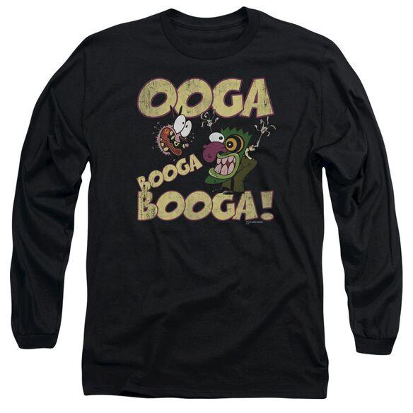 Courage Ooga Booga Booga Long Sleeve Adult T-Shirt