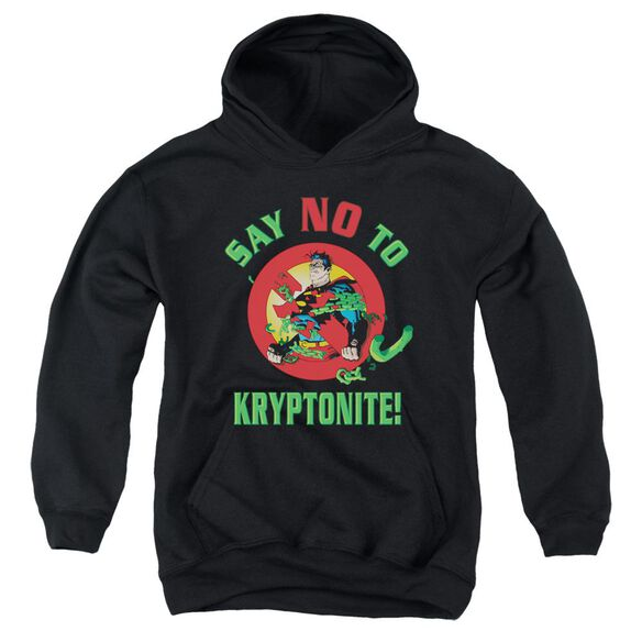 Superman Say No To Kryptonite Youth Pull Over Hoodie