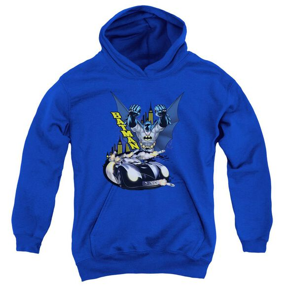 Batman By Air & By Land Youth Pull Over Hoodie