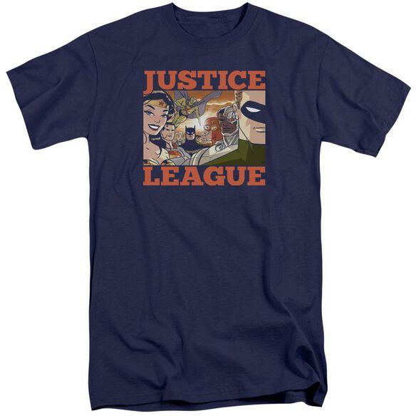 Jla New Dawn Group Short Sleeve Adult Tall T-Shirt