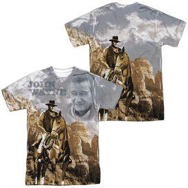 John Wayne Ride Em Cowboy (Front Back Print) Short Sleeve Adult Poly Crew T-Shirt