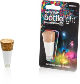 Multi Colored Rechargeable Bottle Light