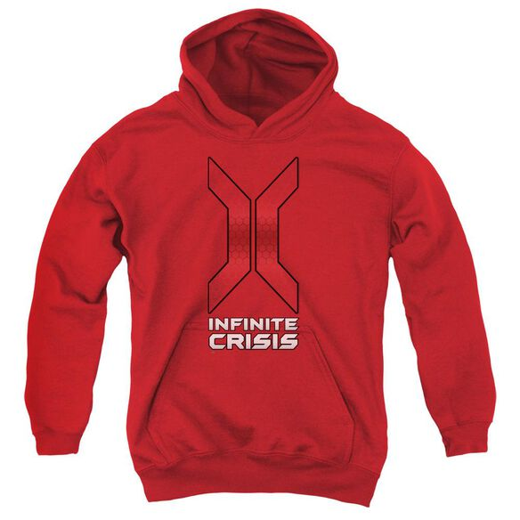 Infinite Crisis Title Youth Pull Over Hoodie