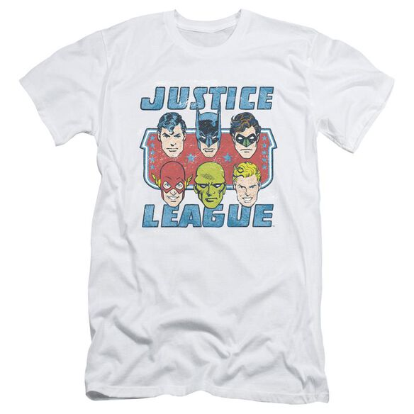 Dc Faces Of Justice Short Sleeve Adult T-Shirt