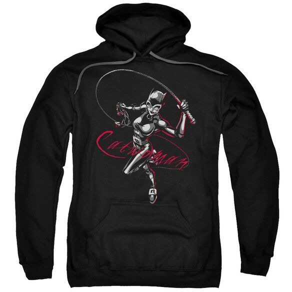 Batman Kitten With A Whip Adult Pull Over Hoodie