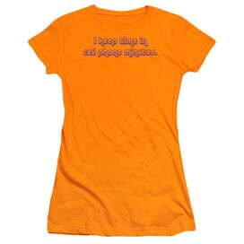 Cell Phone Minutes Short Sleeve Junior Sheer T-Shirt