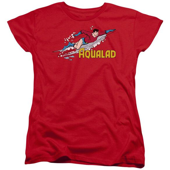 Dc Aqualad Short Sleeve Womens Tee T-Shirt