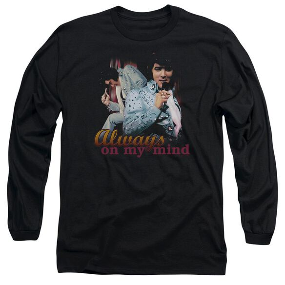 Elvis Always On My Mind Long Sleeve Adult T-Shirt
