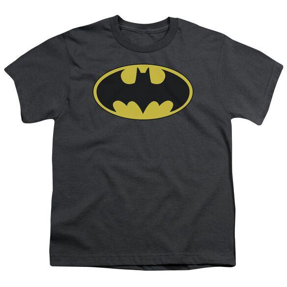 Batman Classic Bat Logo Short Sleeve Youth T-Shirt