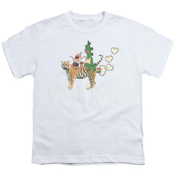 Uncle Grandpa Fart Hearts Short Sleeve Youth T-Shirt