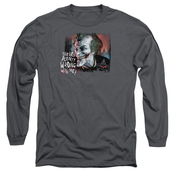 Arkham City Plenty Wrong Long Sleeve Adult T-Shirt