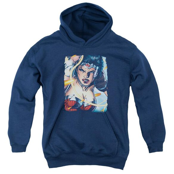 Jla Scowl Youth Pull Over Hoodie